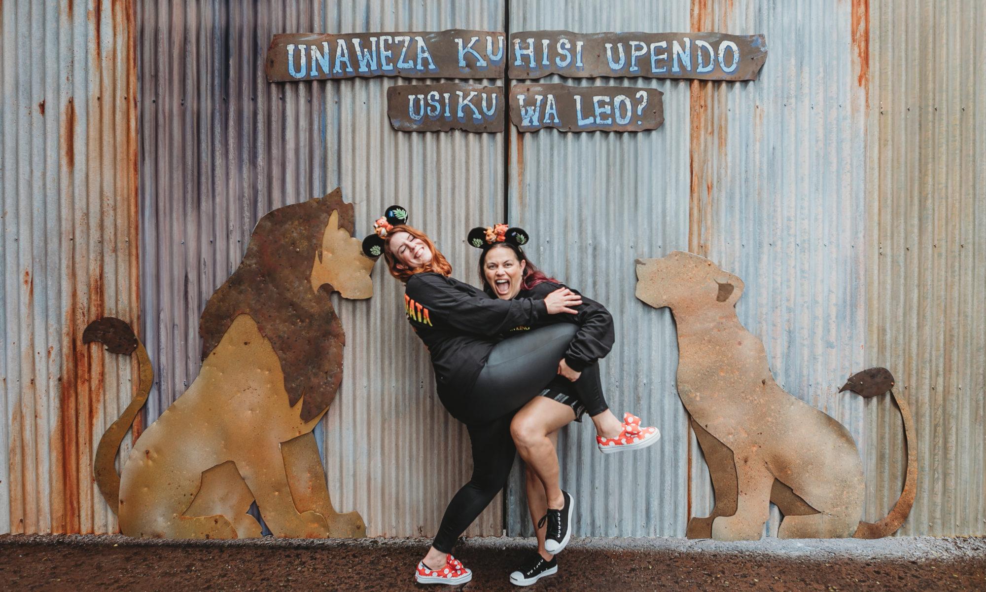 Ashley and Jana at Animal Kingdom